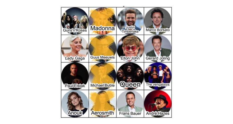 Coronaproof bingo muziek